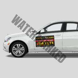 Magnetic Taxi Sign Printing