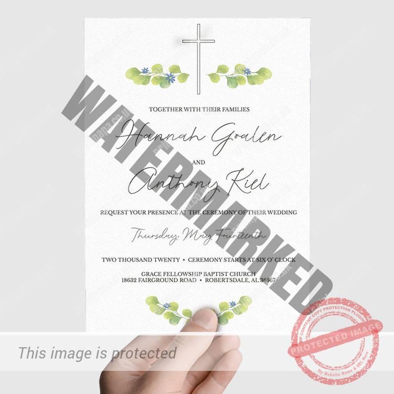 Christian Wedding Card Printer
