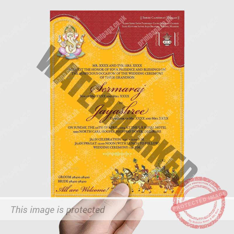 A5 Hindu Wedding Card Printers