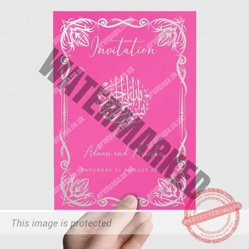 A5 Muslim Wedding Cards Printers