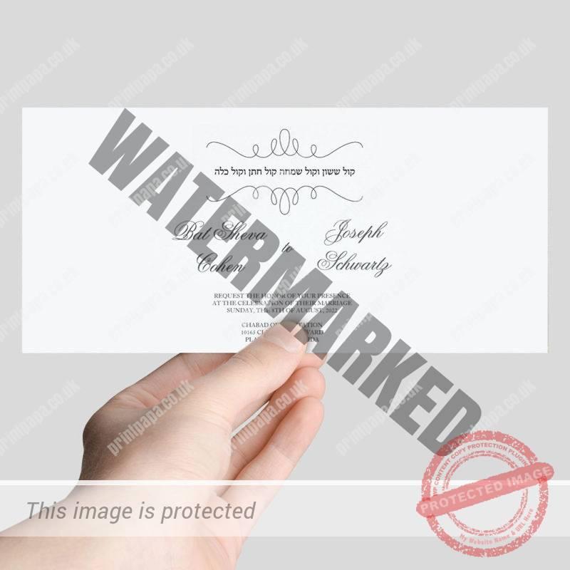 DL Jewish Wedding Cards (1/3 A4) Printer