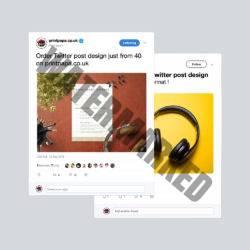 Twitter Post Design Service