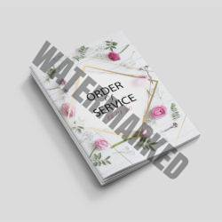 a4 order of service printers