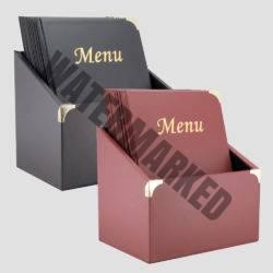 leather style folder menus with presentation box