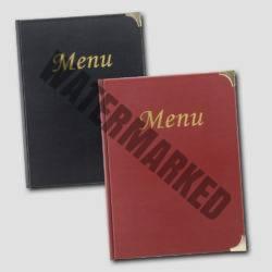 Leather Style Menu Folders
